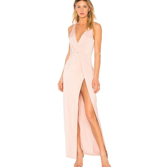 NWT Revolve NBD Buttercup Gown Twist Front Dress